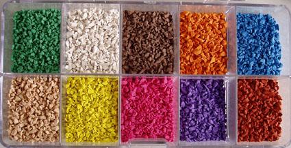 彩色橡胶颗粒